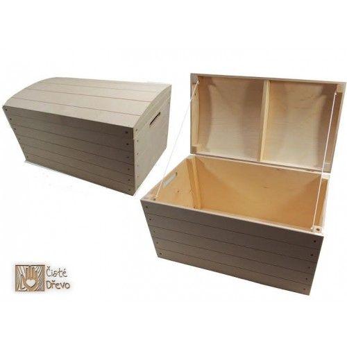 ČistéDřevo Dřevěná truhla H031 cena od 990 Kč