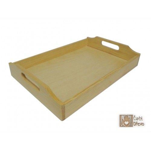 ČistéDřevo Dřevěný servírovací tác 52x42 cm cena od 0 Kč
