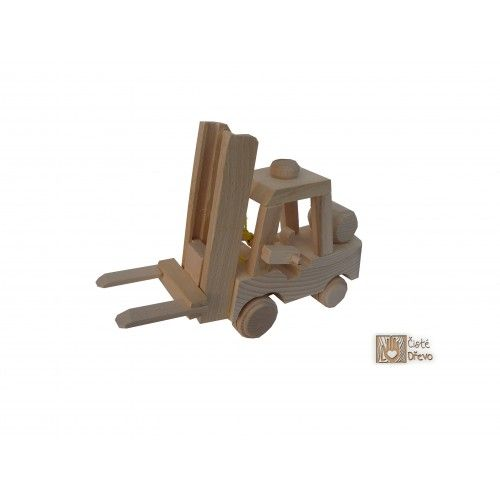 ČistéDřevo Dřevěný vysokozdvižný vozík H005 cena od 329 Kč