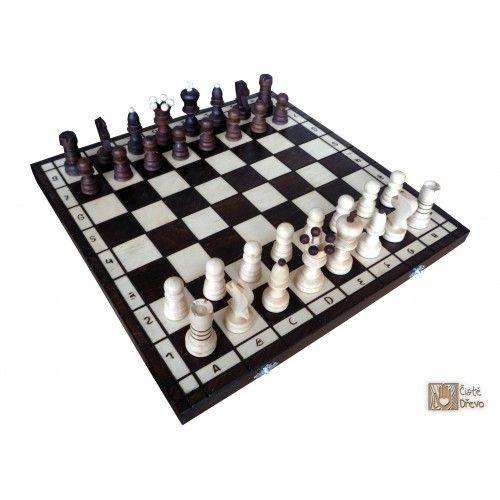 ČistéDřevo Dřevěné šachy TOP 42 x 42 cm cena od 599 Kč