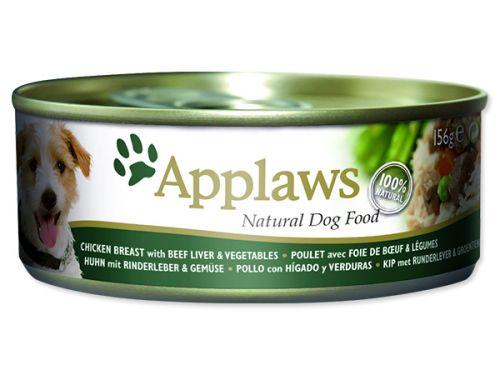 APPLAWS dog chicken, beef liver & vegetables 156 g