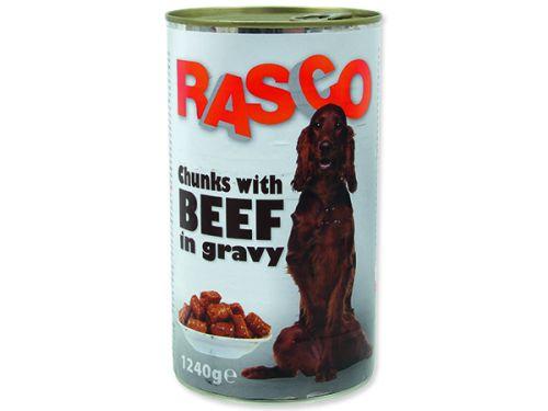 RASCO hovězí kousky ve šťávě 1240 g
