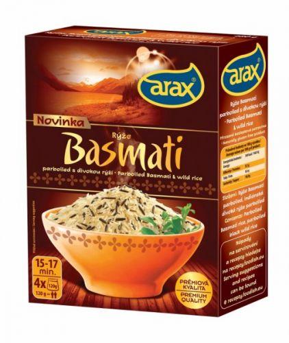 Arax Basmati parboiled s divokou rýží 480 g