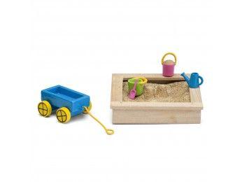 Lundby Småland pískoviště s hračkami