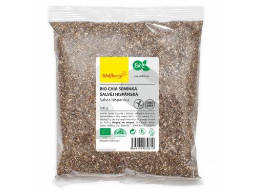 wolfberry Chia semínka bio 500 g cena od 142 Kč