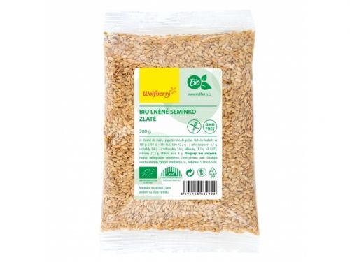 wolfberry Lněné semínko zlaté bio 200 g cena od 73 Kč