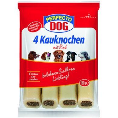 Perfecto Dog plněné žvýkací tyčky hovězí 4 ks