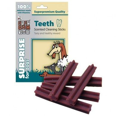 HUHUBamboo dentální tyčky na čištění zubů s vůní