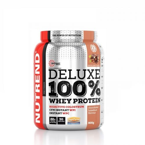 NUTREND DELUXE 100% WHEY PROTEIN Čokoláda a lískový ořech 900 g