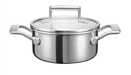 KitchenAid Kastrol 3vrstvý s poklicí 16 cm cena od 2990 Kč