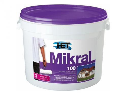 HET MIKRAL 100 fasádní barva bílá 15 kg