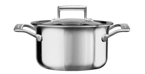 KitchenAid Kastrol nerezový s poklicí 2,8 l cena od 4390 Kč