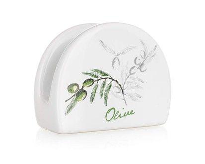 BANQUET OLIVES stojánek na ubrousky keramický cena od 50 Kč