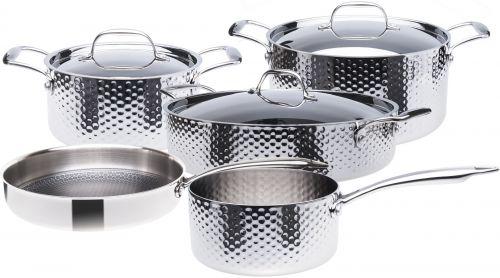 STEIN Sada nádobí 3vrstvá nerezová 9 dílná cena od 10790 Kč