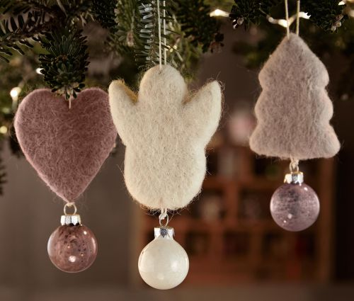 Vánoční ozdoby na stromeček - skleněné kouličky