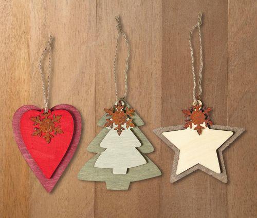 Vánoční dřevěné ozdoby na stromeček