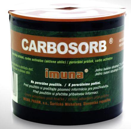 Carbosorb plv.1x25 g cena od 95 Kč