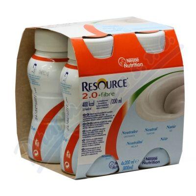 Resource 2 kcal Fibre Neutrální roztok 4x200 ml cena od 189 Kč