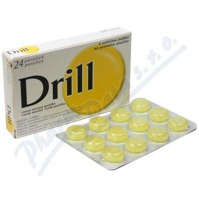 Drill Citron Mentol 24 pastilek cena od 99 Kč