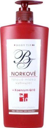 VIVACO Body Tip Norkové tělové mléko hydratační koenzym Q10 400 ml