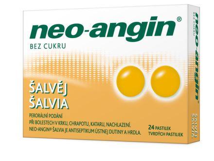 Neo-angin šalvěj 24 pastilek cena od 108 Kč