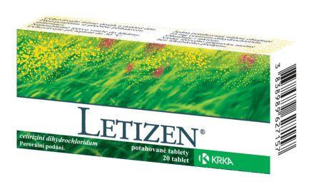 Letizen 10 mg 20 tablet cena od 71 Kč