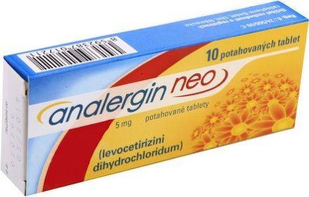 Analergin Neo 5 mg 10 tablet cena od 69 Kč