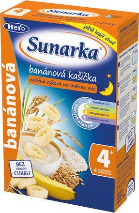Sunarka banánová kašička na dobrou noc mléčná 225 g