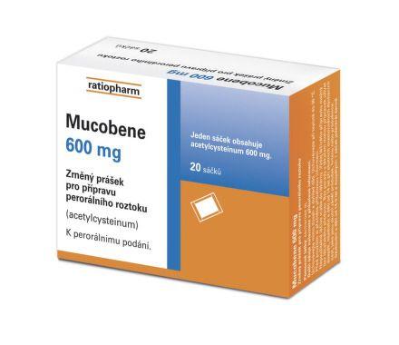 Mucobene 600 mg 20 sáčků cena od 109 Kč