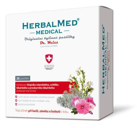 HerbalMed MEDICAL Dr.Weiss ZP 20 pastilek cena od 96 Kč