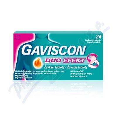 Gaviscon Duo Efekt žvýkací tablety 24 ks cena od 95 Kč