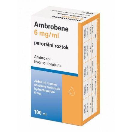 Ambrobene 6 mg roztok 100 ml cena od 59 Kč