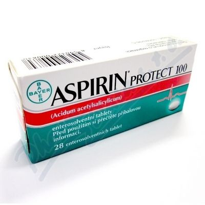 Aspirin Protect 100 mg 28 Tablet cena od 44 Kč
