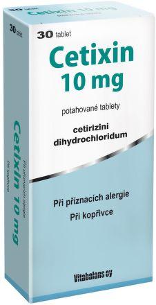 Cetixin 10 mg 30 tablet cena od 74 Kč