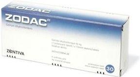 Zodac 10 mg 30 Tablet cena od 63 Kč