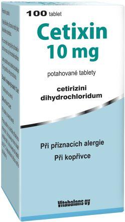 Cetixin 10 mg 100 tablet cena od 172 Kč