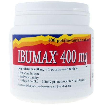 Ibumax 400 mg 100 Tablet cena od 80 Kč