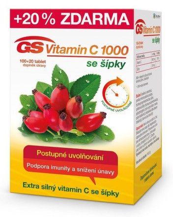 GS Vitamin C1000 + šípky 100 Tablet