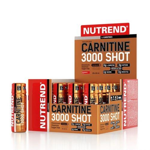 NUTREND CARNITINE 3000 SHOT Pomeranč 20x60 ml