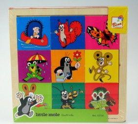Bino Dřevěná skládačka puzzle Krteček hlavičky cena od 95 Kč