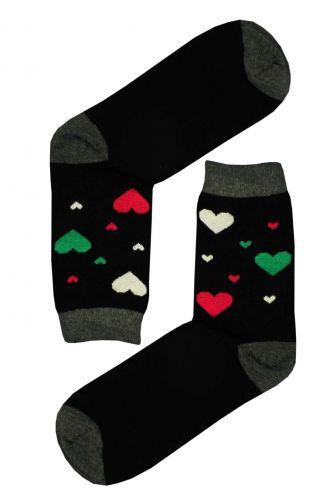 Aura.Via barevná srdíčka ponožky