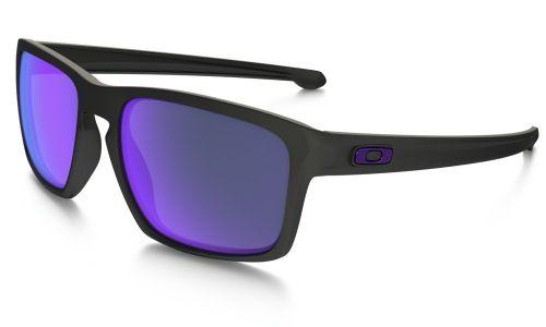 Oakley Sliver Matte Black Violet Iridium Polarized