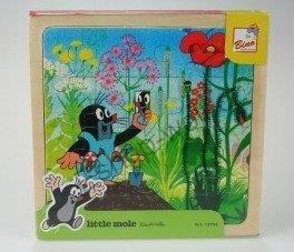 Bino Dřevěné puzzle Krtek a kalhotky 20 dílků cena od 99 Kč