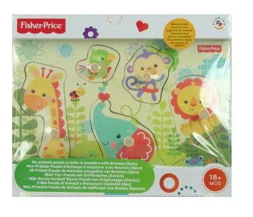 Fisher Price Dřevěné puzzle s úchyty cena od 129 Kč