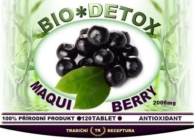 Bio-detox Sušené mleté plody ovoce Maqui Berry 120 tablet