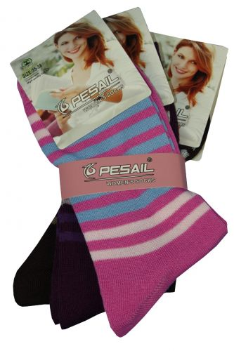 Pesail Dámské ponožky s pruhy