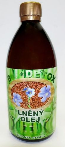 Bio-detox Lněný olej 500 ml