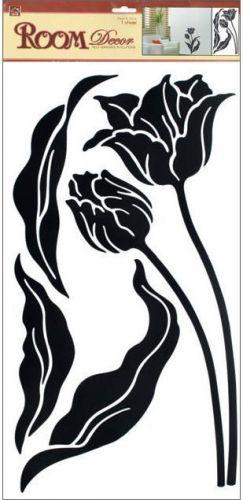 Anděl Přerov Samolepka Room Decor tulipány černé 69x32 cm