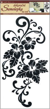 Anděl Přerov Samolepka Room Decor ibišek černý 69x30 cm