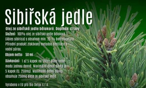 Bio-detox olej ze sibiřské jedle bělokoré 50 ml